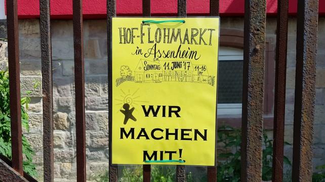 Hof-Flohmarkt am 11. Juni
